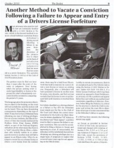 Waukegan DUI Lawyer Article