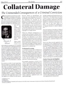 The Unintended Conequences of a Criminal Conviction