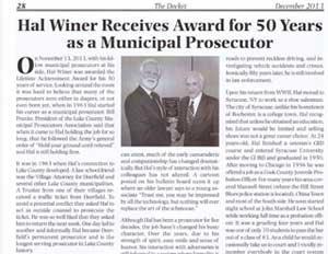 Hal-Winer-Award