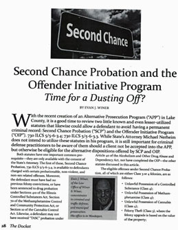 Second Chance Probation and the Offender Initiative Program